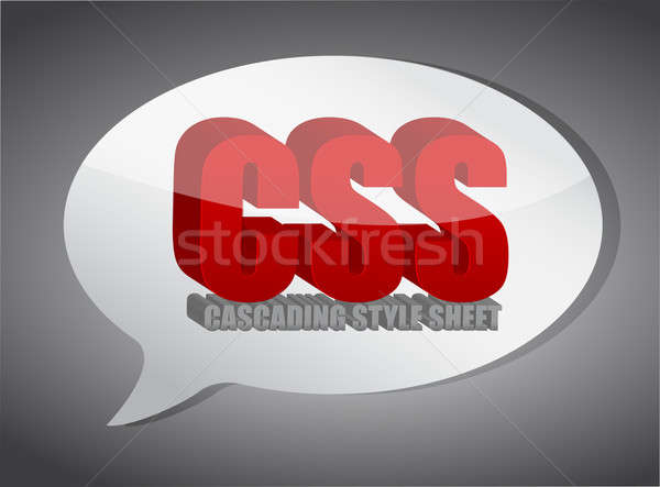 Css speech bubble Stock photo © alexmillos
