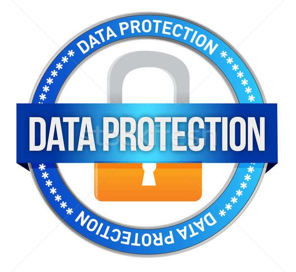 Icon Data Protection seal  Stock photo © alexmillos