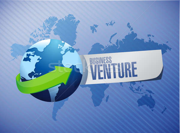 business venture global concept Stock photo © alexmillos