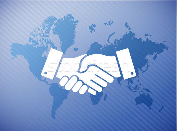 international agreement handshake concept Stock photo © alexmillos