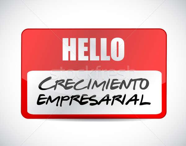 Iş büyüme imzalamak İspanyolca örnek dizayn Stok fotoğraf © alexmillos
