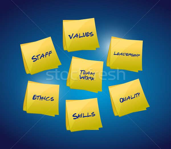 Business and organizational diagram Stock photo © alexmillos