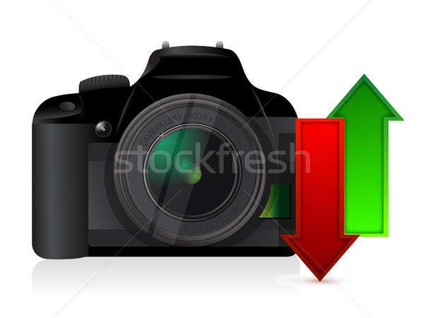 カメラ アップロード ダウンロード コンテンツ 実例 デザイン ストックフォト © alexmillos
