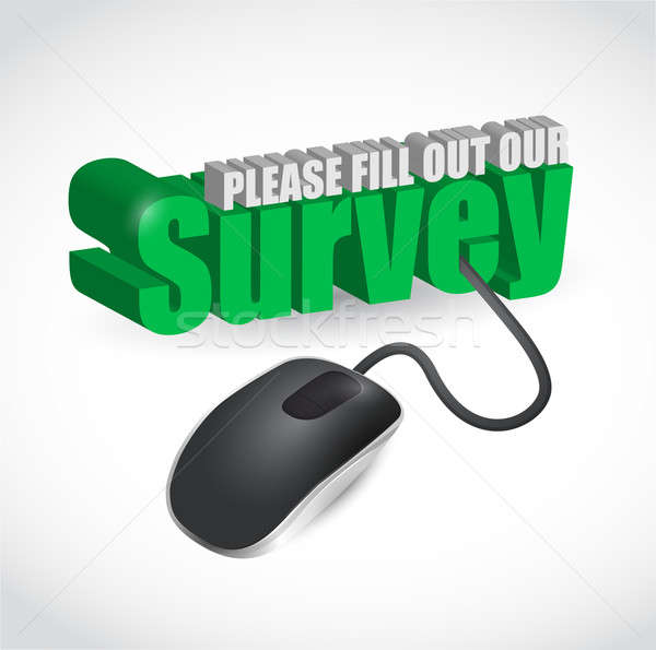 survey sign and mouse illustration design Stock photo © alexmillos