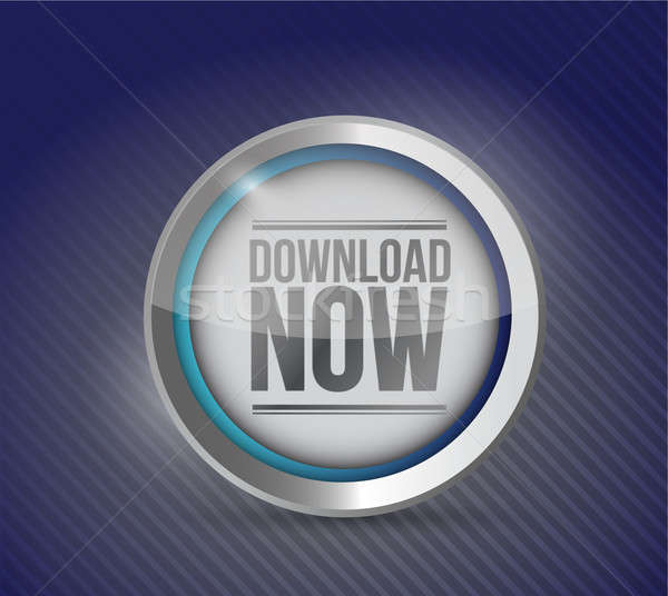 Download now button. illustration design Stock photo © alexmillos