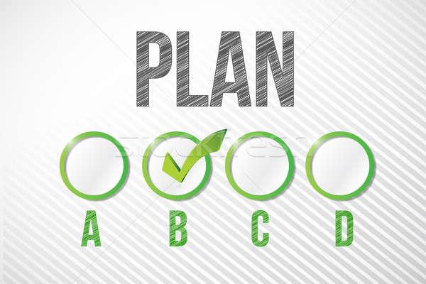 Plan b örnek dizayn beyaz kâğıt Stok fotoğraf © alexmillos
