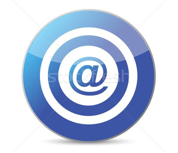 bullseye target internet illustration design over white backgrou Stock photo © alexmillos