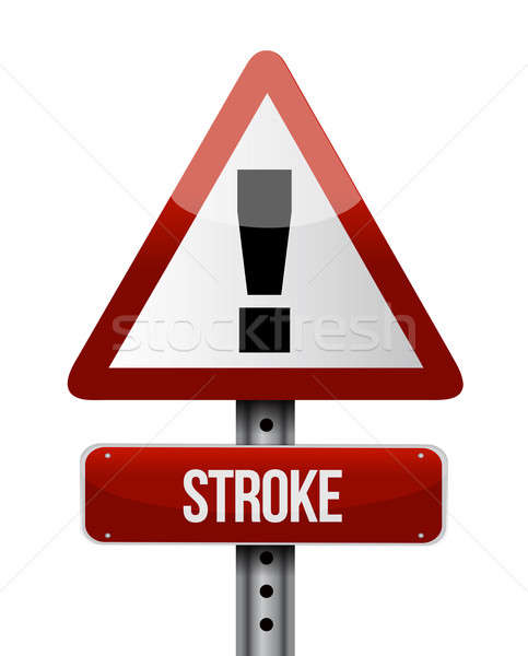 stroke road sign illustration design over a white background Stock photo © alexmillos