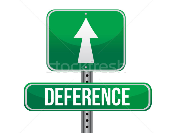 deference road sign illustration design over a white background Stock photo © alexmillos
