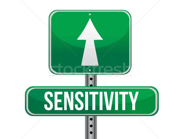sensitivity road sign illustration design over a white backgroun Stock photo © alexmillos