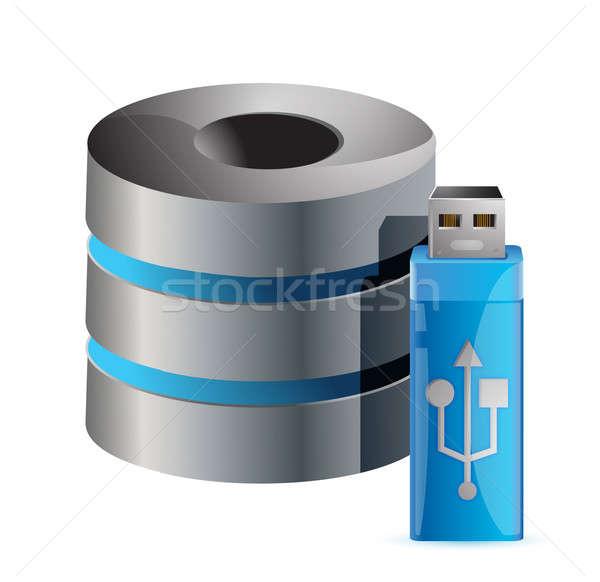Moderna ordenador servidor usb palo ilustración Foto stock © alexmillos