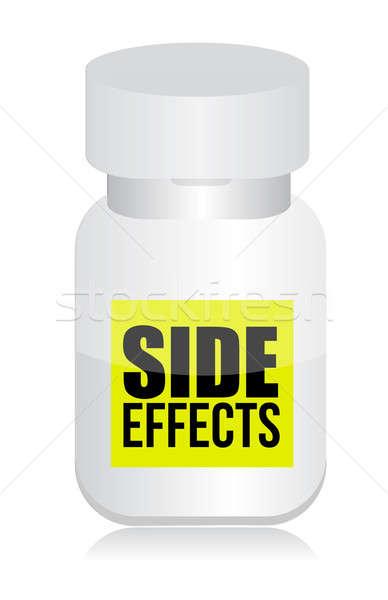 Pílulas lado efeitos assinar ilustração projeto Foto stock © alexmillos