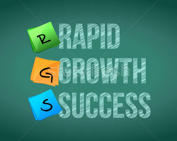 rapid growth success sign illustration design graphic Stock photo © alexmillos