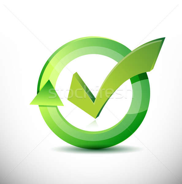 Check mark approval sign cycle Stock photo © alexmillos