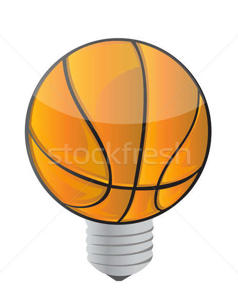 Lightbulb Basketball ball  Stock photo © alexmillos
