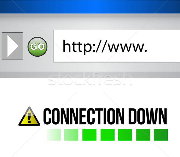 Connection down sign on a browser Stock photo © alexmillos