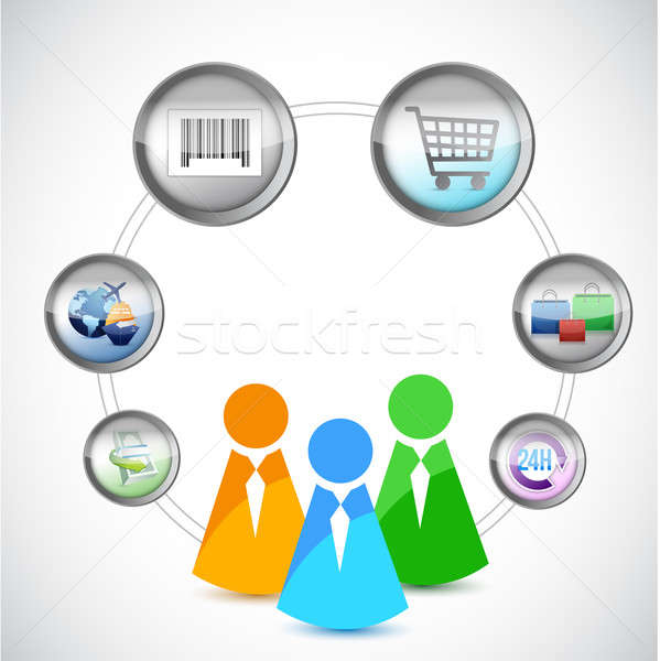 Foto d'archivio: Icone · ecommerce · shopping · online · business · computer · soldi