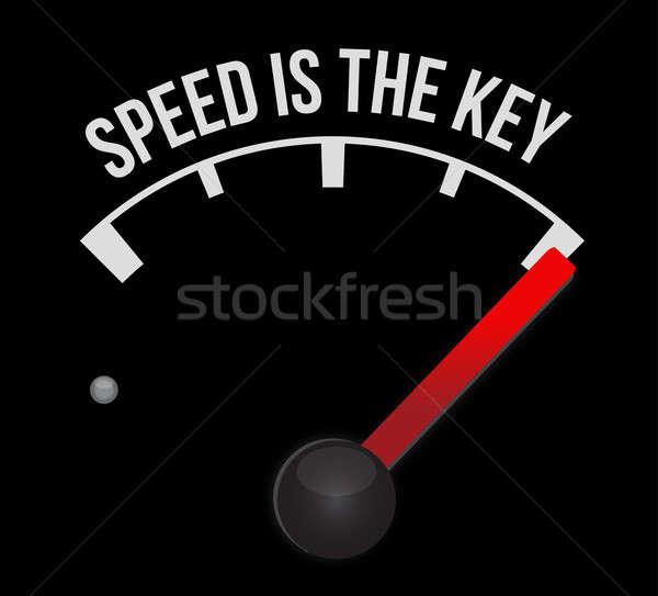 Tachimetro velocità chiave auto sport luce Foto d'archivio © alexmillos