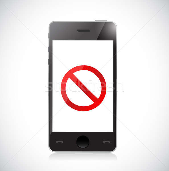 Smartphone with a negative sign. Dont. Stock photo © alexmillos