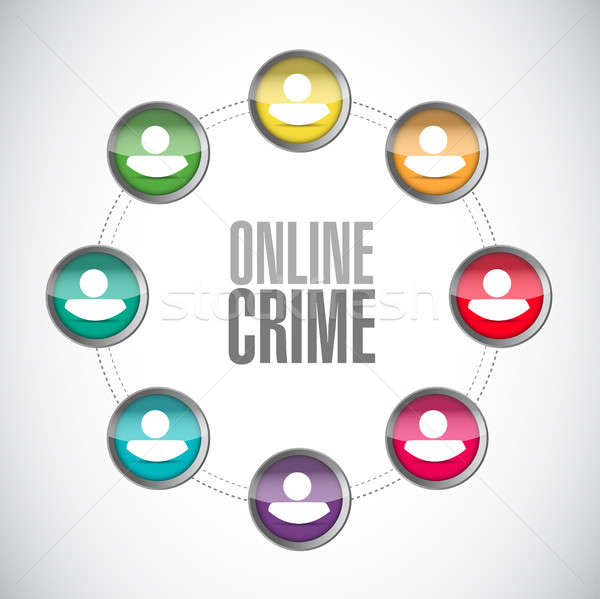online crime network sign concept Stock photo © alexmillos