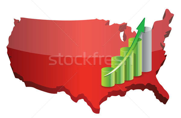 US business graph illustration design over a white background Stock photo © alexmillos