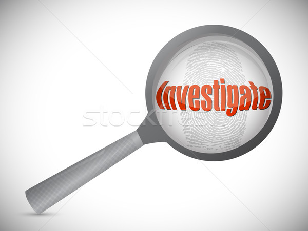investigation under search, illustration design over a white bac Stock photo © alexmillos