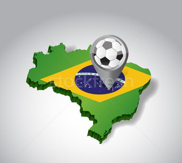 Brazil. Brazilian soccer concept illustration  Stock photo © alexmillos
