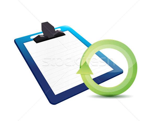 Financeiro atualizar ilustração projeto negócio escritório Foto stock © alexmillos