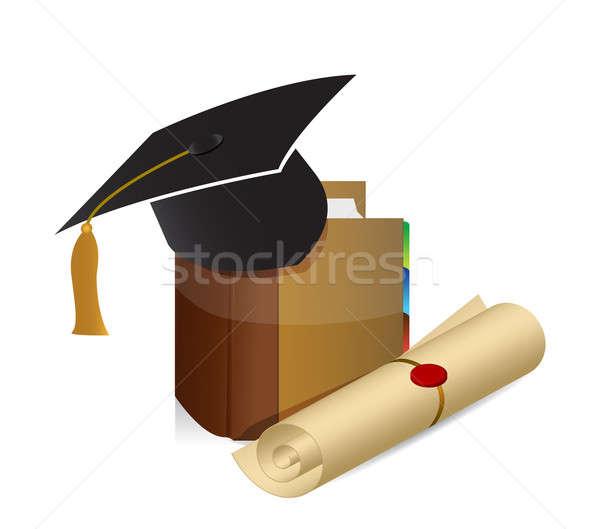 Education knowledge graduation illustration Stock photo © alexmillos