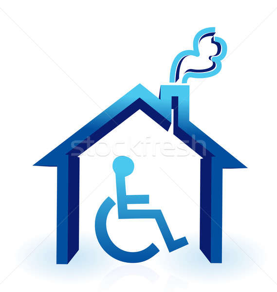 Handicap house Stock photo © alexmillos