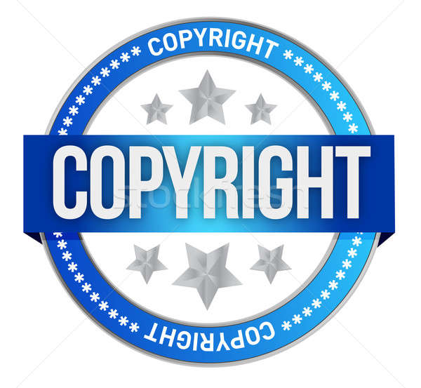 stamp with the text copyright Stock photo © alexmillos