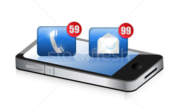 an smartphone receiving a lot of spam Stock photo © alexmillos