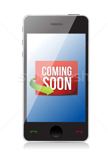 phone Coming soon message illustration design Stock photo © alexmillos