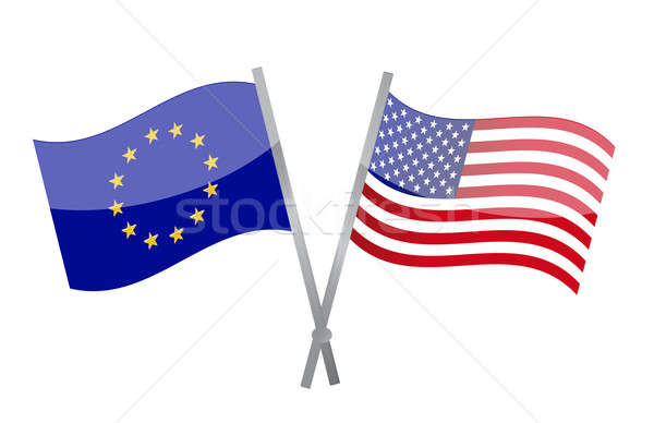 America and Europe alliance illustration design Stock photo © alexmillos