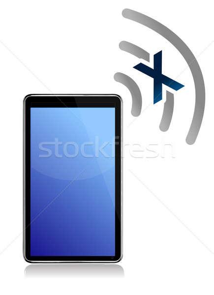 No signal on tablet illustration design Stock photo © alexmillos