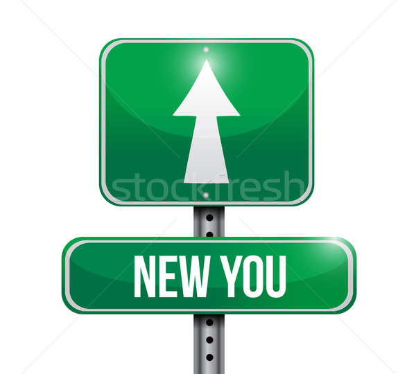 new you road sign illustration design over a white background Stock photo © alexmillos