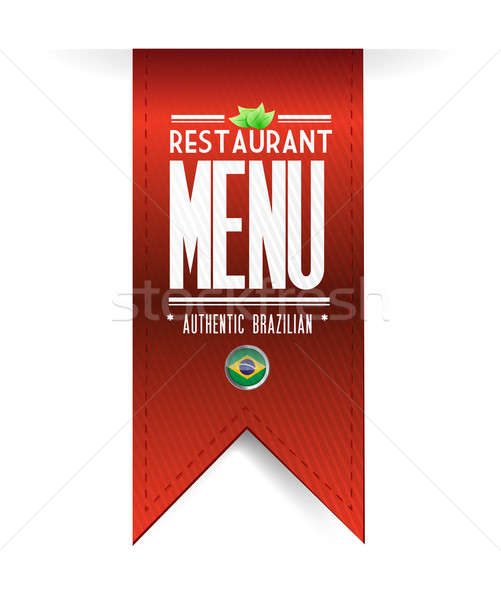 brazilian restaurant texture banner illustration over white Stock photo © alexmillos