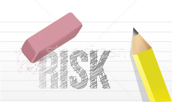 Stock photo: erase risks concept illustration design over a white background