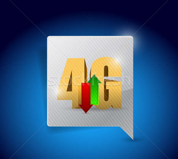 4g connexion illustration design affaires téléphone Photo stock © alexmillos