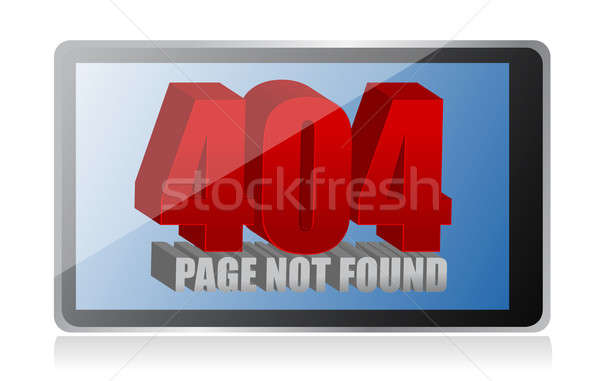 404 error on a tablet  Stock photo © alexmillos