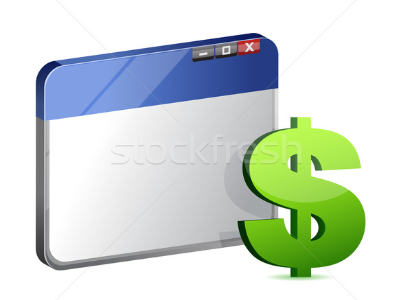 Currency symbol browser Stock photo © alexmillos