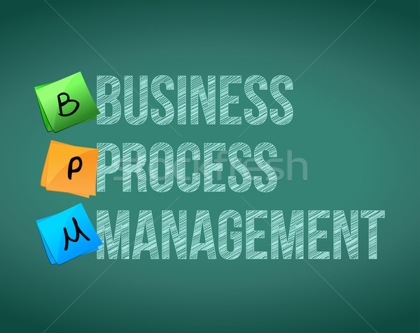 business process management sign illustration design on a chalkb Stock photo © alexmillos