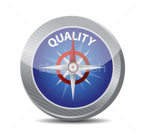 Сток-фото: направлять · качество · компас · иллюстрация · бизнеса