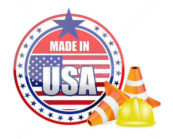 EUA proteção garantia estrada edifício construção Foto stock © alexmillos