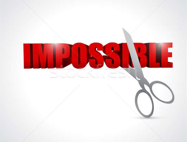 Parola impossibile illustrazione design potere Foto d'archivio © alexmillos