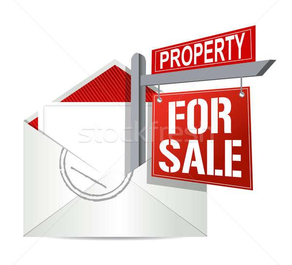 E-mail imóveis venda assinar casa fundo Foto stock © alexmillos