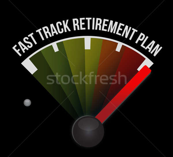 быстро трек пенсия плана спидометр автомобилей Сток-фото © alexmillos