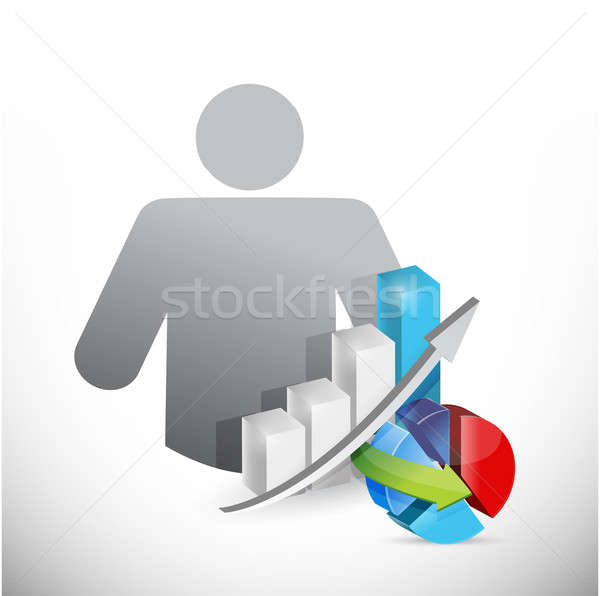 Avatar iş grafikler örnek gözlük fotoğraf Stok fotoğraf © alexmillos