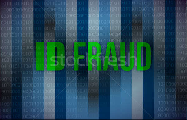 ID fraud binary background  Stock photo © alexmillos