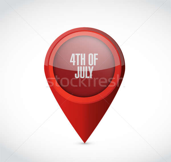 4th of July locator sign concept illustration Stock photo © alexmillos